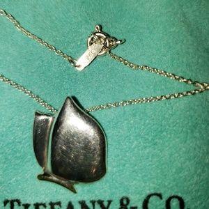 TIFFANY 18KT/925/STERLING RETIRED BUTTERFLY PENDAN